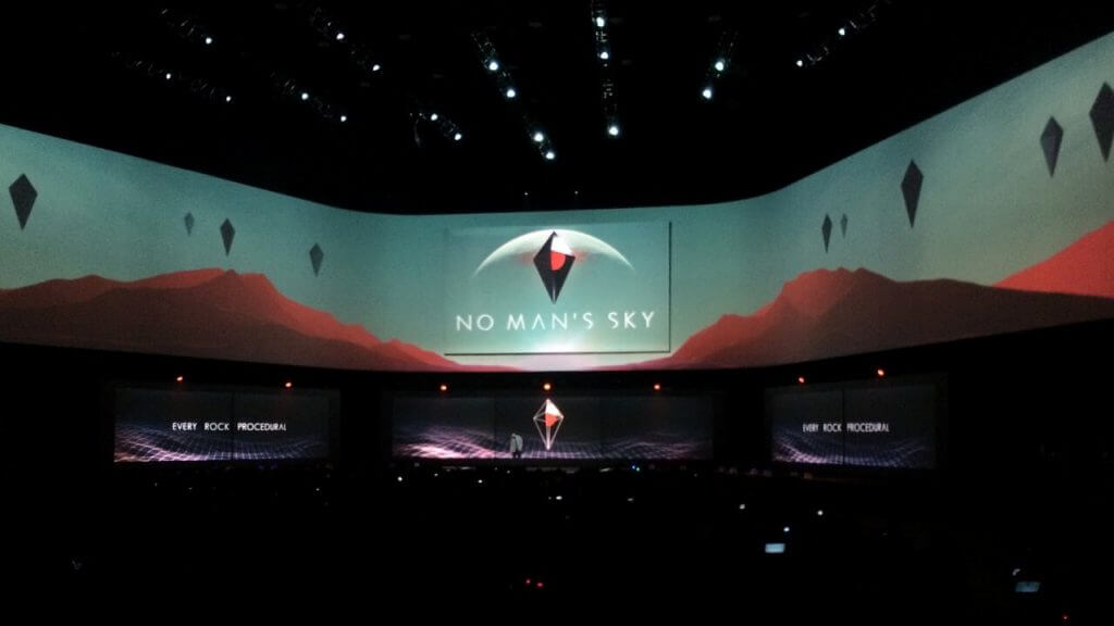 Sean on-stage at Sony's press conference
