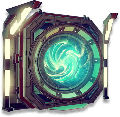 Screenshot of teleporter