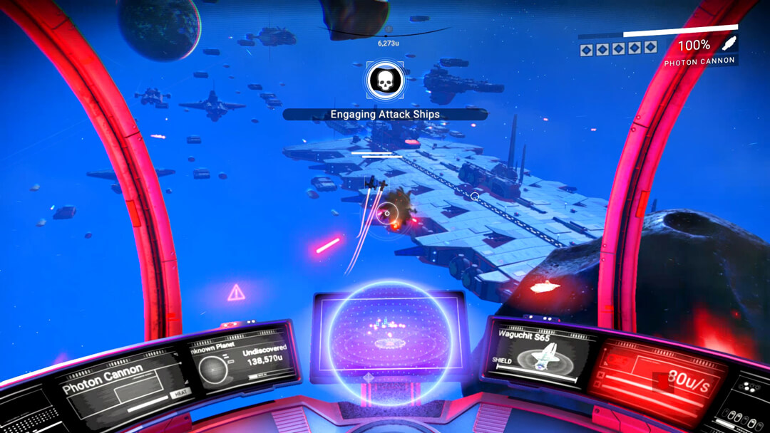 Screenshot of space fight