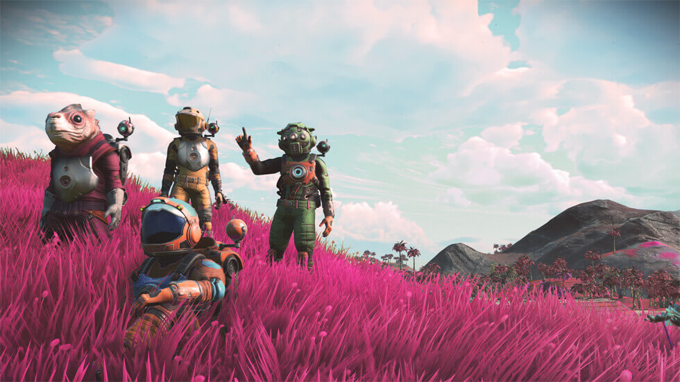 NMS Next Screenshot 1 Pink Grass