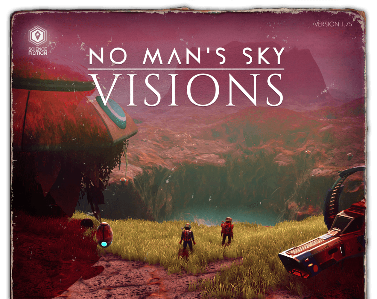 Book cover styled art showcasing No Man's Sky artwork