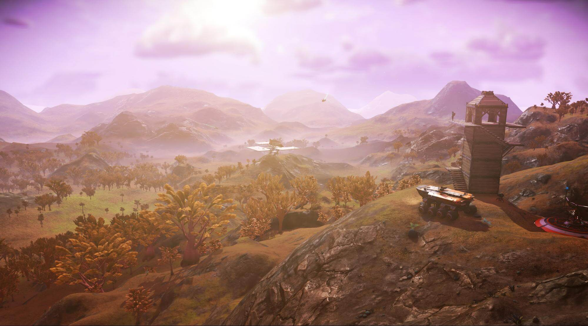 Luscious landscape in No Man's Sky Visions